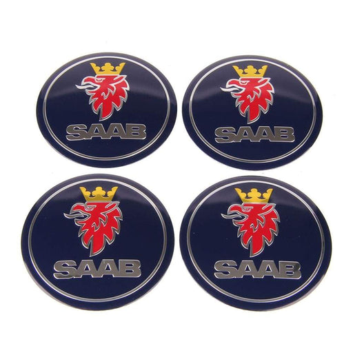 4pcs 56.5mm Saab Wheel Hub Stickers