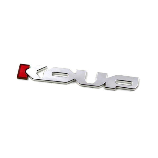 KOUP Emblem Sticker for Kia - Silver+Red Letter