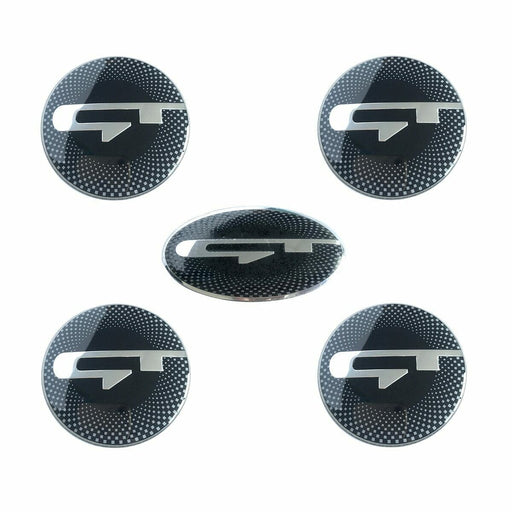 5pcs GT Steering Wheel Emblem Stickers for Kia