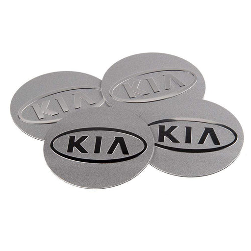 4pcs 55.5mm KIA Logo Chrome Wheel Centre Stickers