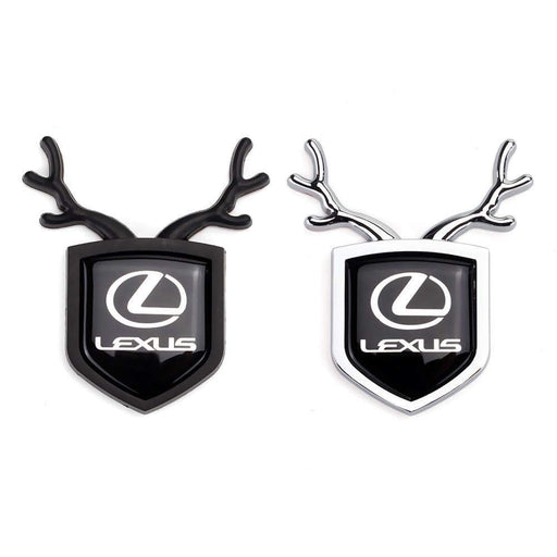 LEXUS 2pcs Lexus Logo Shield Antler Emblems Emblems Stickers