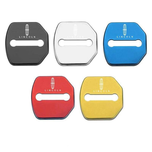 4pcs Lincoln Logo Door Lock Cover for MKC Continental MKZ