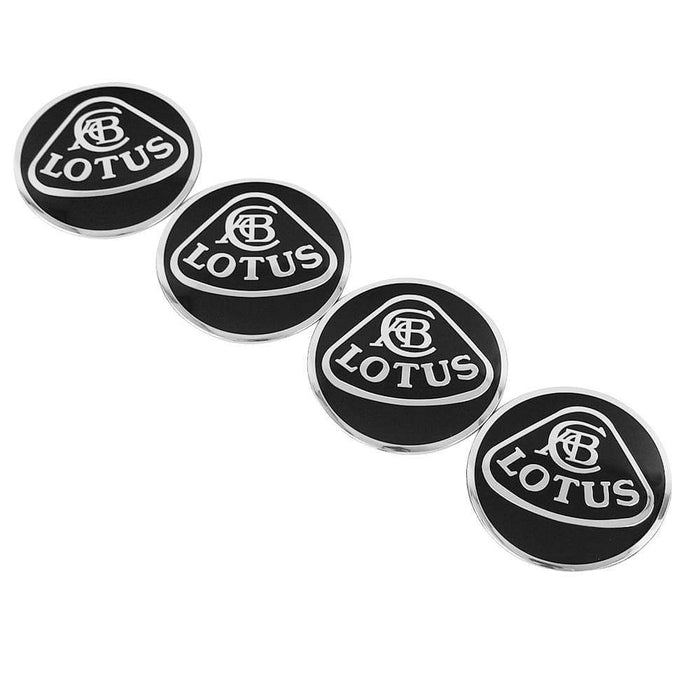 4pcs 56.5mm Lotus Black Wheel Centre Stickers