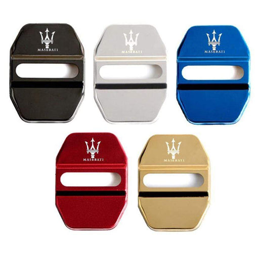 4pcs Maserati Logo Door Lock Cover for Ghibli Levante Quattroporte