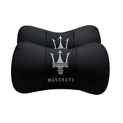 2pcs Maserati Car Pillow Neck Rest Headrest