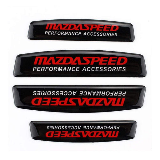 MAZDA 4pcs Mazda Speed Nameplate Door Edge Protection Stickers Emblems Stickers