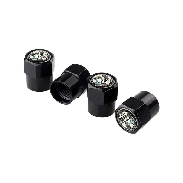 MERCEDES-BENZ 4pcs Mercedes-Benz AMG Tree Logo Tire Valve Caps Tire Valve Caps Black