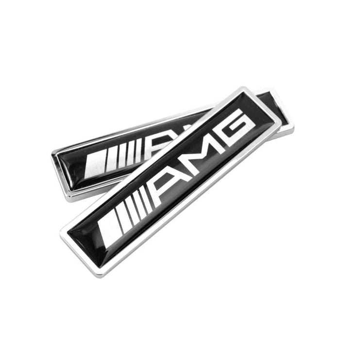 2pcs AMG Logo Emblem Fender Stickers For Mercedes-Benz