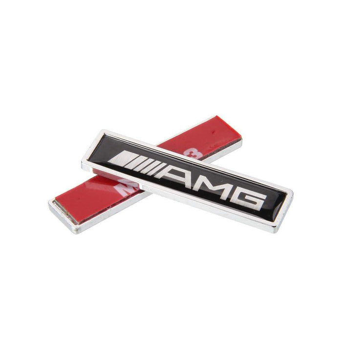 MERCEDES-BENZ 2pcs AMG Logo Emblem Fender Stickers for Mercedes-Benz Emblems Stickers