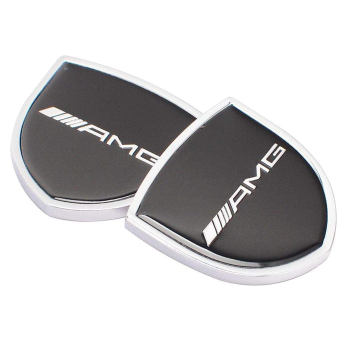 MERCEDES-BENZ 2pcs Mercedes-Benz AMG Logo Shield Emblems Emblems Stickers