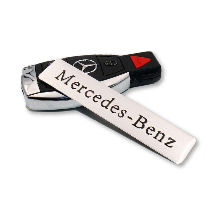 3D Logo For Mercedes-Benz Silver Decal Badge Metal Emblem