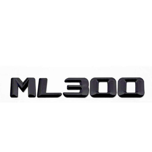 MERCEDES-BENZ ML300 Black Trunk Emblem Mercedes Benz ML Emblems Stickers