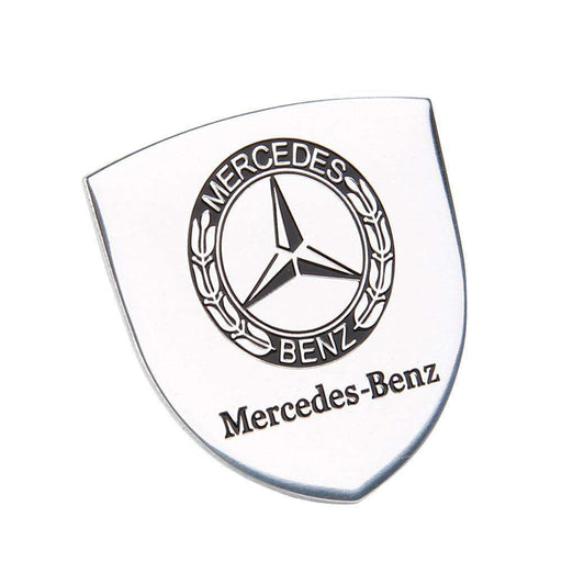 MERCEDES-BENZ Shield Silver Emblem Mercedes-BENZ Badge Emblems Stickers