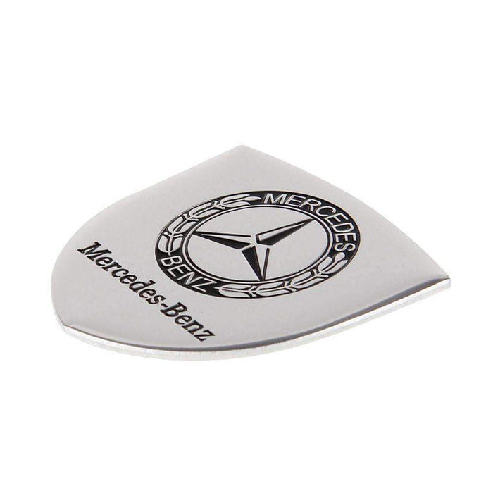 Shield Silver Metal Logo Emblem For Mercedes-BENZ Car