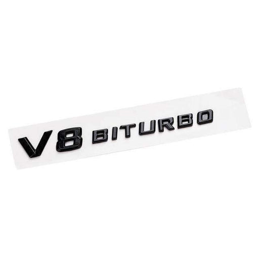 MERCEDES-BENZ V8 BITURBO Emblem Benz AMG [Black, ABS, Sticker ] Emblems Stickers
