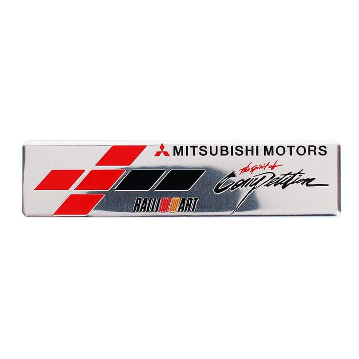MITSUBISHI Mitsubishi Motors Ralli Art Multicolor Trunk Emblem Sticker Trunk Emblem
