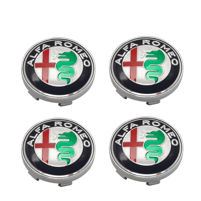 Natalex Auto 4pcs Alfa Romeo Wheel Center Caps Колпаки ступицы Blue