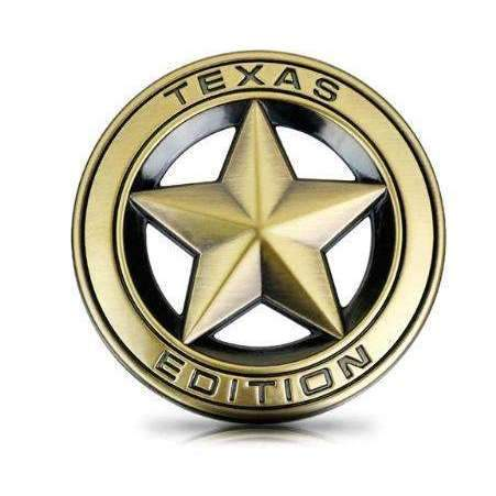 Natalex Auto TEXAS Edition Silver/ Bronze/ Gun/ Gold Emblem Sticker for Jeep Emblems Stickers bronze Texas