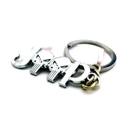 Punisher Skull Silver Keychain