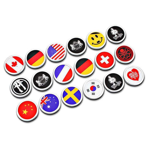 Natalex Auto Country Flags & Funny Emblems Stickers for Car