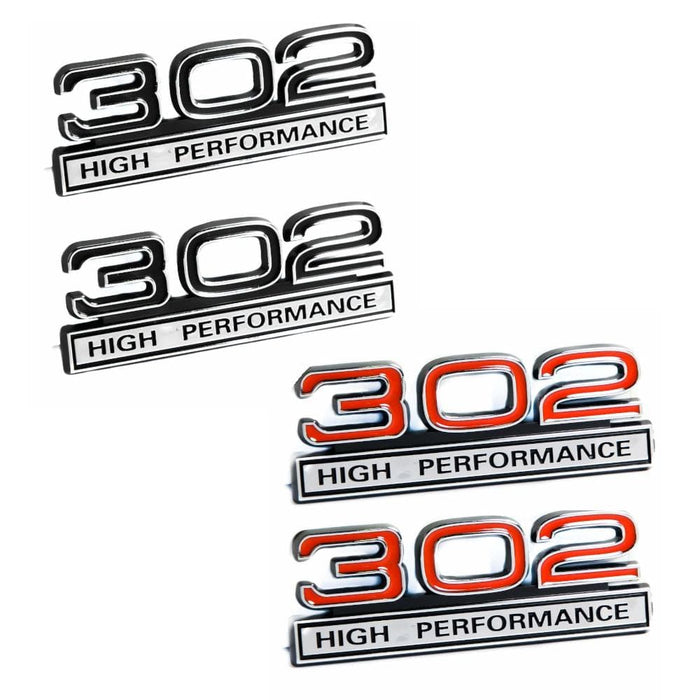 2pcs 302 5.0 Liter Engine High Performance Fender Emblems