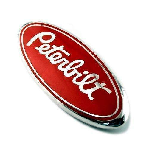 Natalex Auto Peterbilt Truck Red Hood Emblem for Ford Emblems for Grille