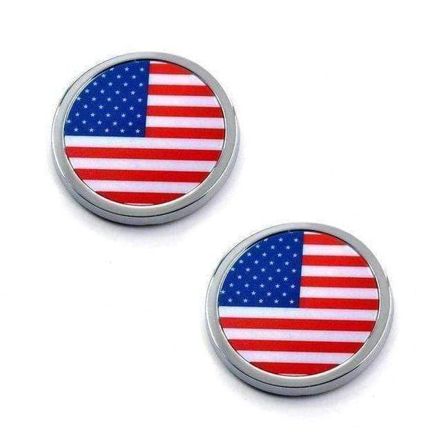 2pcs United States Flag Emblems