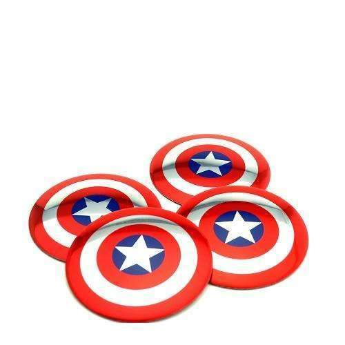 4pcs Captain American Wheel Center Caps Stickers