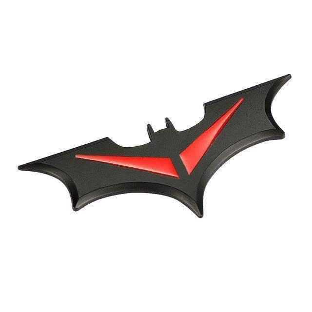 Natalex Auto Batman Black Red Emblem Sticker Emblems Stickers