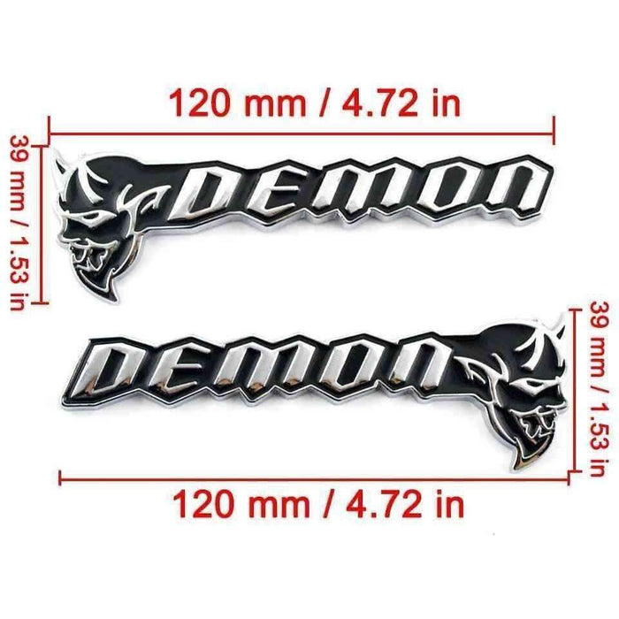 Natalex Auto Black Demon Metal Emblem Emblems Stickers