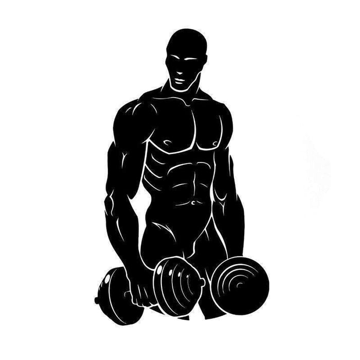 Black Weightlifting Fitness Vinyl Sticker