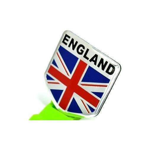 Natalex Auto England Silver National Emblem Sticker Emblems Stickers
