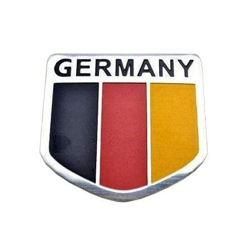 Germany Silver National Emblem Sticker