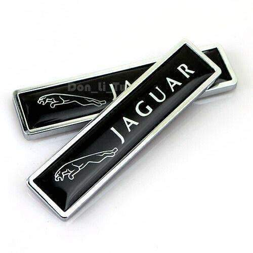 Natalex Auto Pair Fender Badge For Jaguar Black Sticker Emblems Stickers