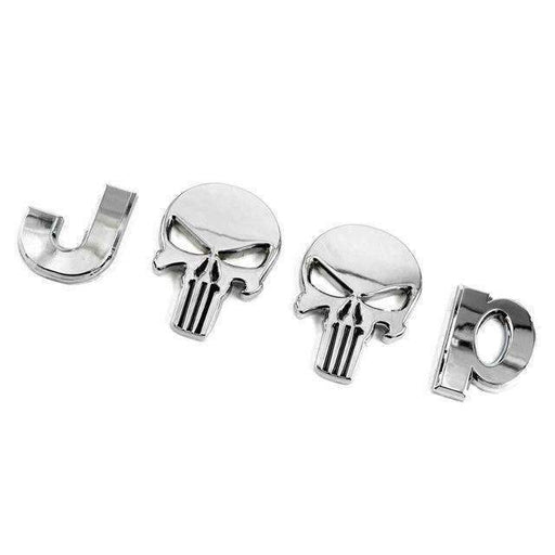 Punisher Skull Silver Emblem Sticker