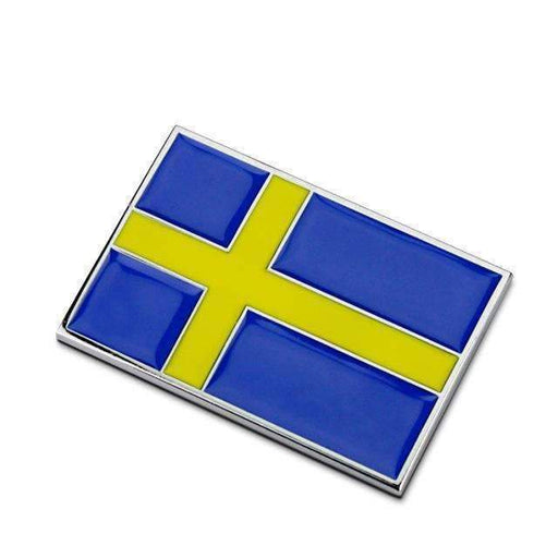 Natalex Auto Sweden Flag Emblem Sticker Emblems Stickers