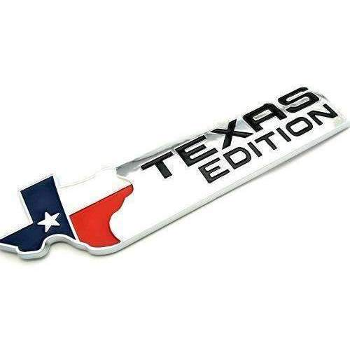 Natalex Auto Texas Edition White Emblem Sticker Emblems Stickers