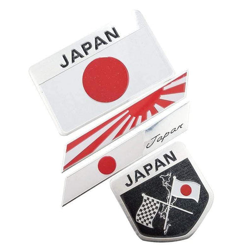 Natalex Auto Metal Japan Flag Style Emblem Sticker