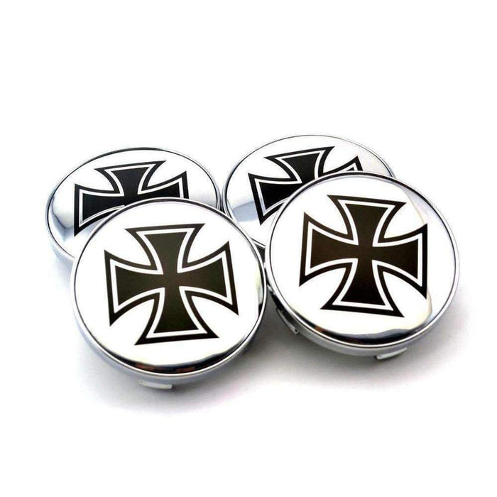 Natalex Auto 4 Pcs Cross Of Iron Wheel Center Caps Wheel Center Caps