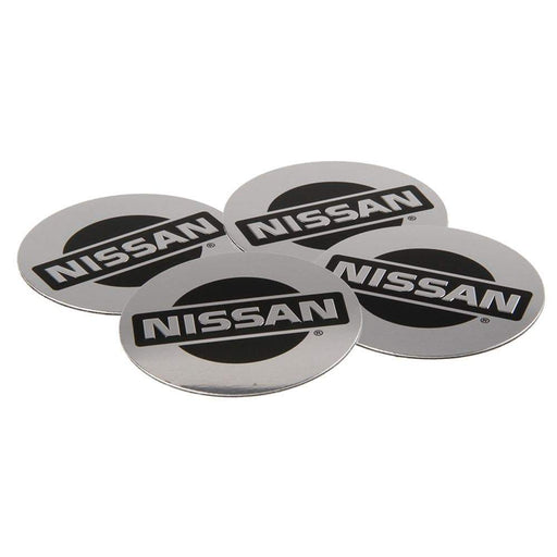 4pcs 55.5mm Nissan Logo Wheel Centre Stickers