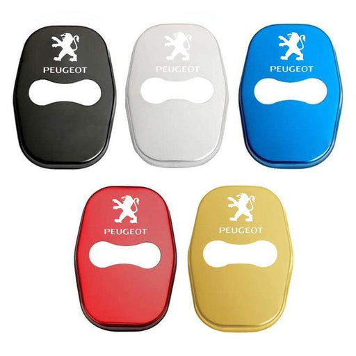 4pcs Peugeot Logo Door Lock Cover for 301 308 408 ect