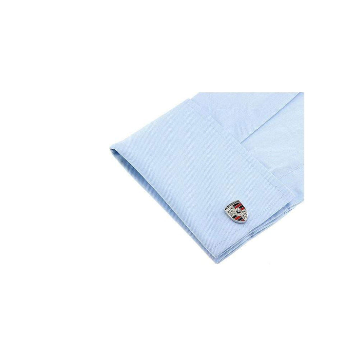 2pcs Porsche Logo Men's Shirt Cufflinks