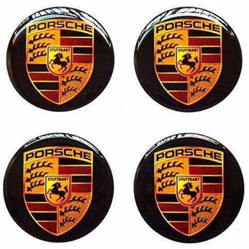 PORSCHE 4pcs 56.5mm Porsche Logo Wheel Hub Stickers Wheel Center Stickers