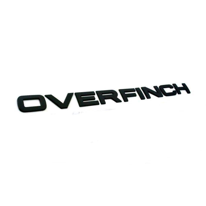 Emblema Overfinch Letters para Range Rover Negro mate