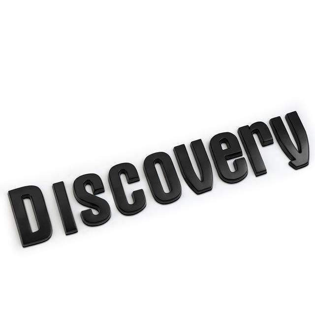 DISCOVERY Range Rover Black/ Silver Refitting Emblem Sticker DISCOVERY black