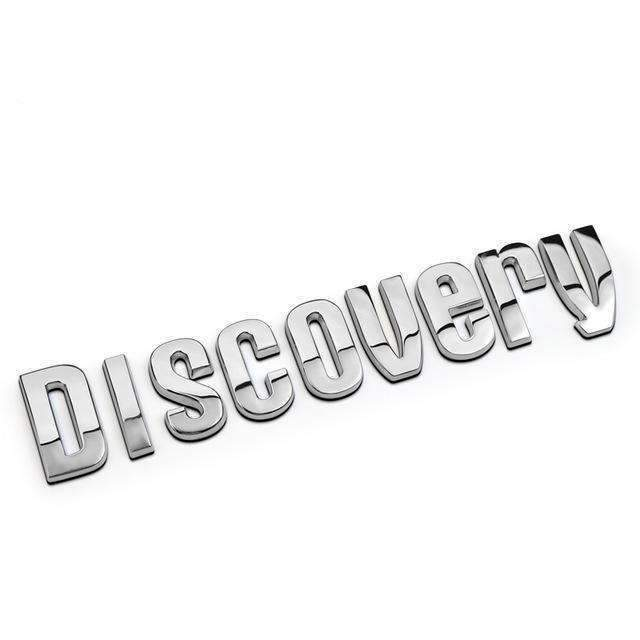 DISCOVERY Range Rover Black/ Silver Refitting Emblem Sticker DISCOVERY silve