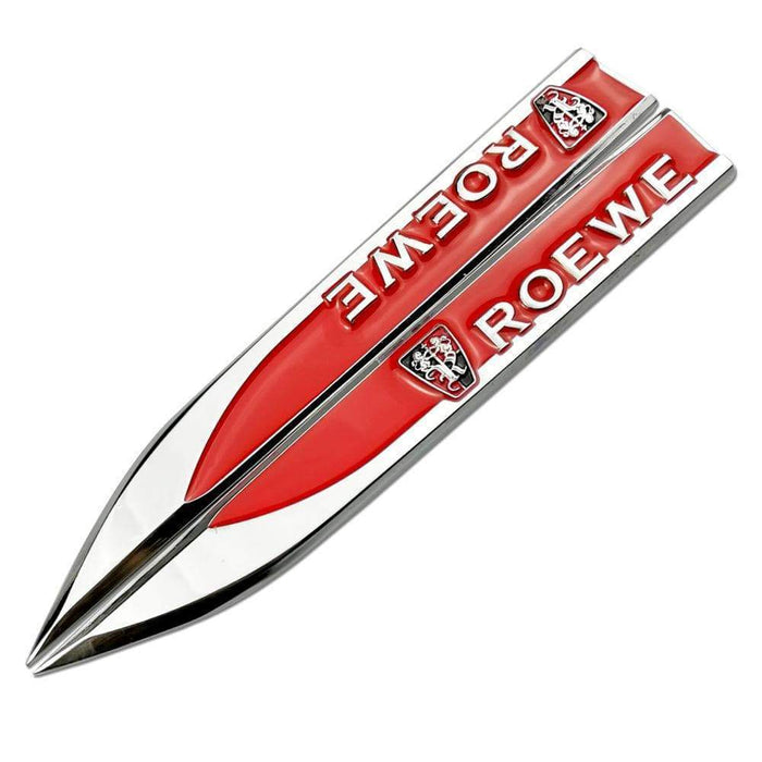 ROEWE 2pcs Car Roewe Logo Fender Emblem Stickers Emblem Stickers Red