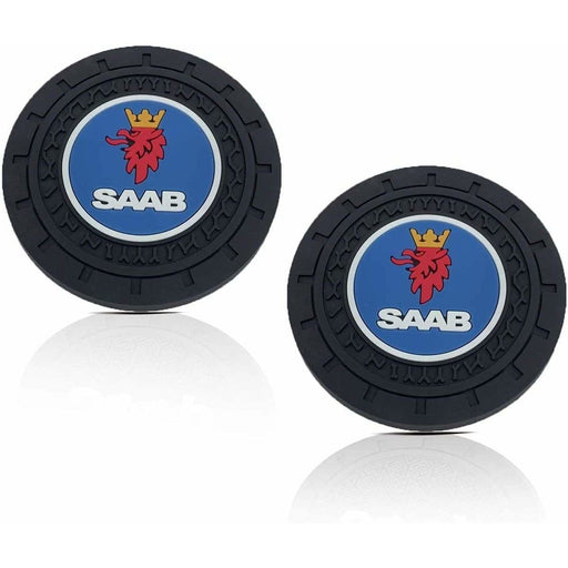 2pcs SAAB Logo Auto Cup Holder
