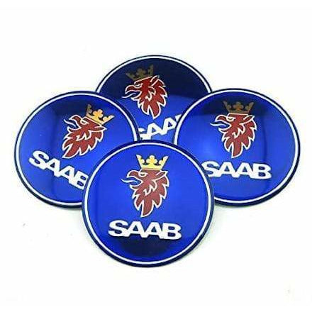 4pcs 65mm SAAB Wheel Center Hub Cap Sticker