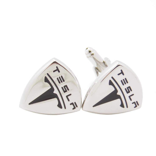 2pcs Tesla Logo Men's Shirt Cufflinks